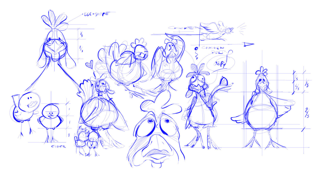 The character drawings of the Bondegardsland at Djurs Sommerland
