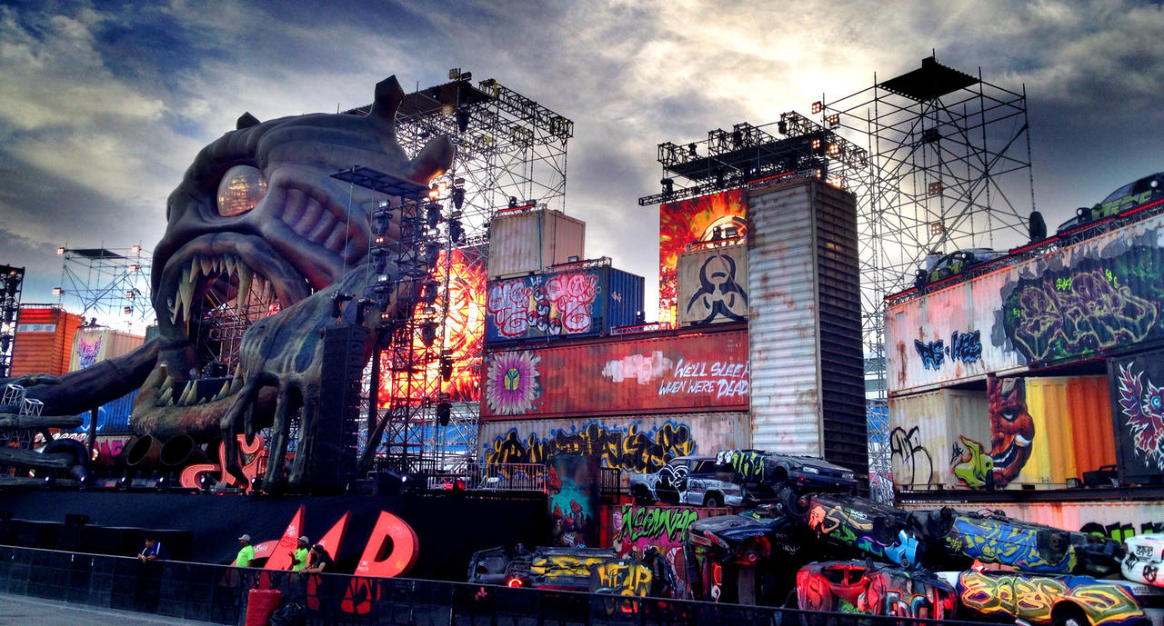 The Basscon stage at EDC 2014