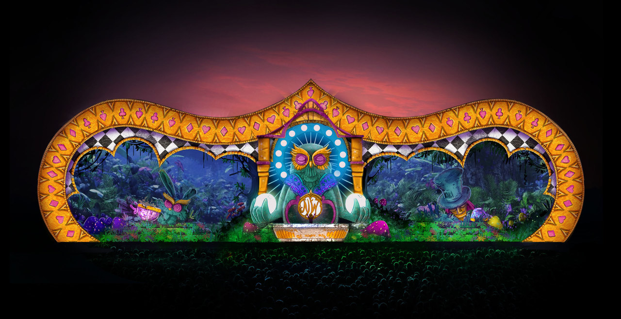 Stage design of the Labyrinth stage at Nocturnal Wonderland 2014