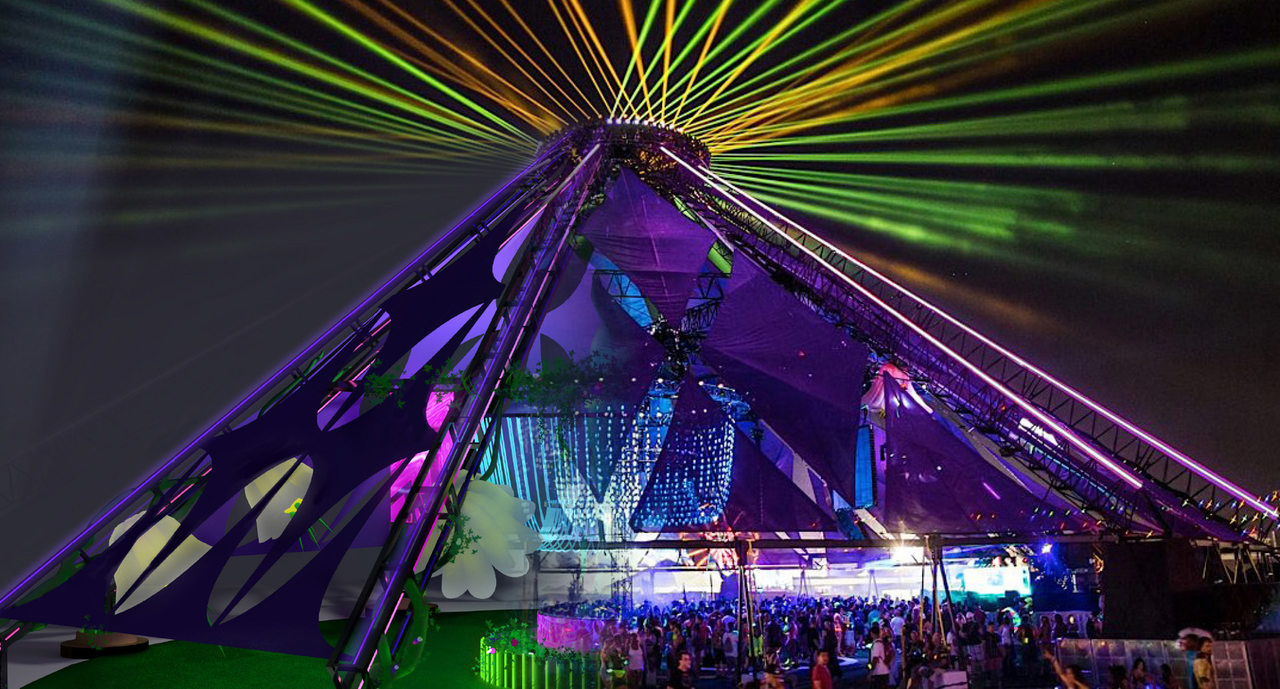 The Neon Garden stage at EDC 2015