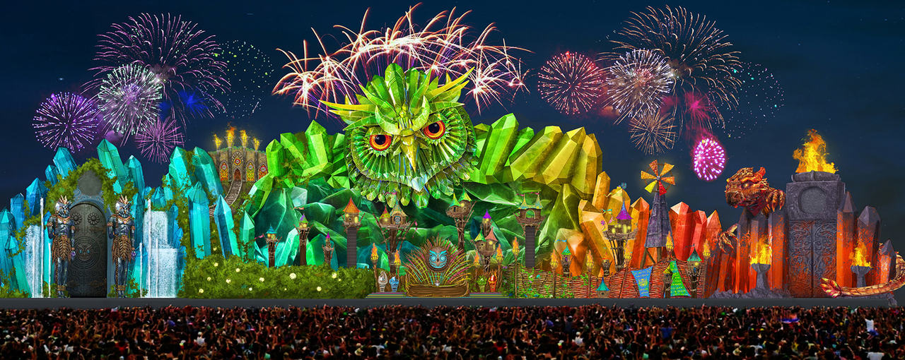 Stage design of the kinetic field stage at EDC 2015