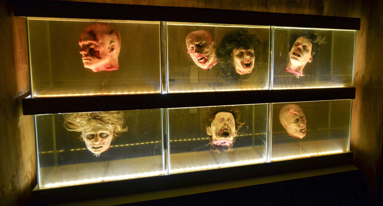One of the scenes at the Walking Dead Breakout haunted house at Movie Park Germany