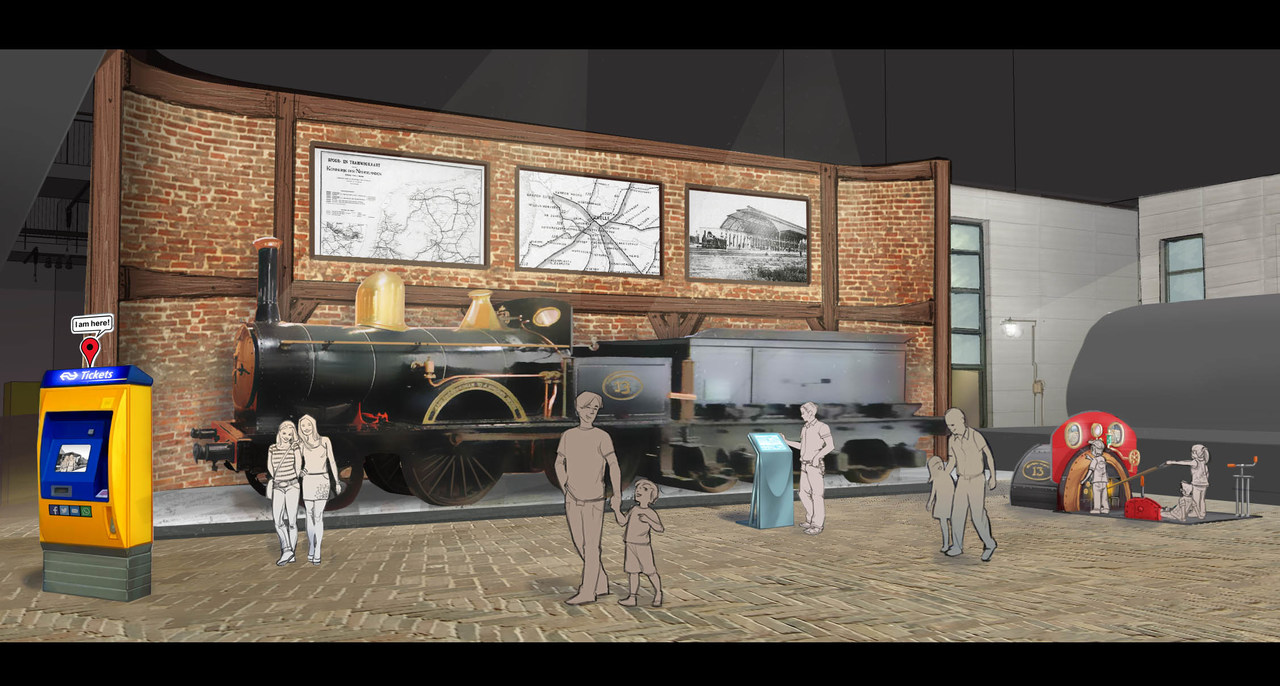 Artist impression of the Trains through the Ages exhibition at the Railway Museum
