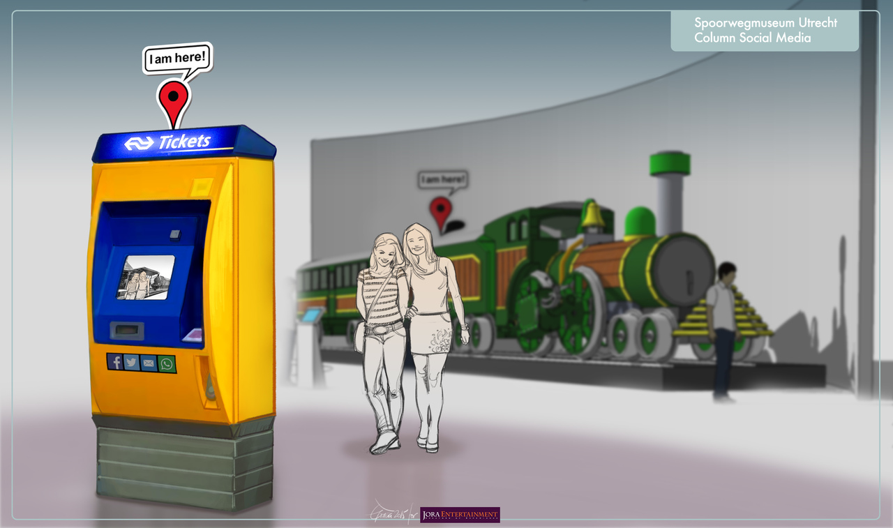 Artist impression of the photo experience at Railway museum exhibition