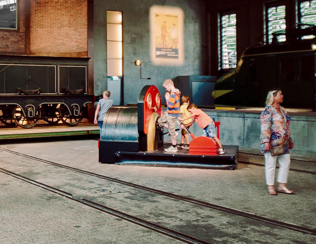 Photo of the Trains through the Ages exhibition at Railway Museum