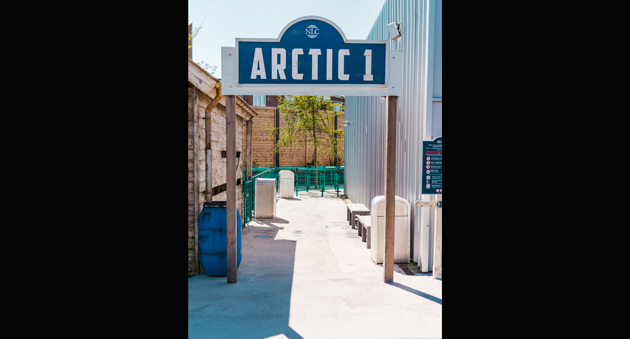 The entrance of the Arctic 1 attraction at the Wildlands zoo