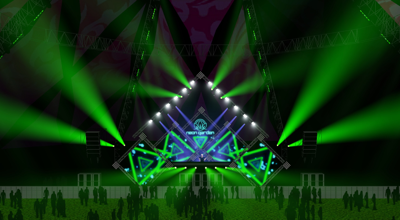 The stage design of Neon Garden at EDC 2016
