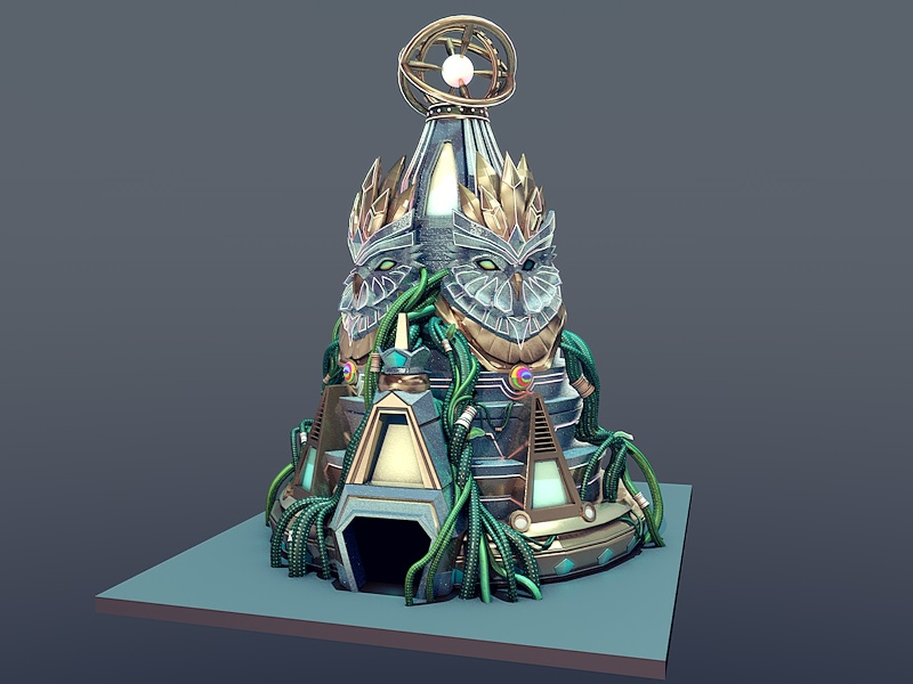 Design of the centerpieces of Kinetic Field stage at EDC 2016