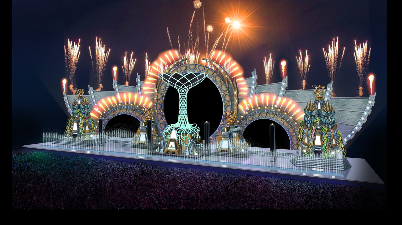 Design of the Kinetic Fields stage at EDC 2016