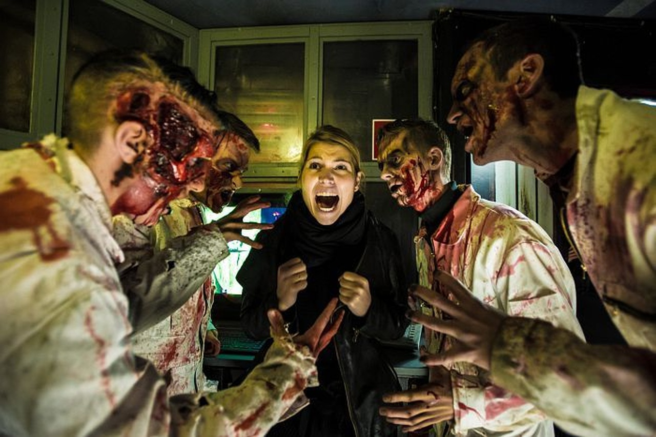 Scare actors at Halloween Horror Night at Europa Park