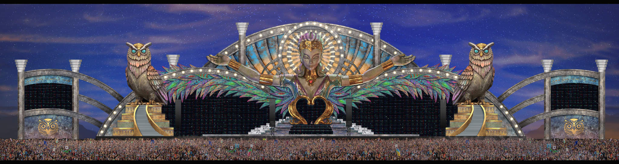 3D stage design of the Kinetic Field stage at EDC 2017