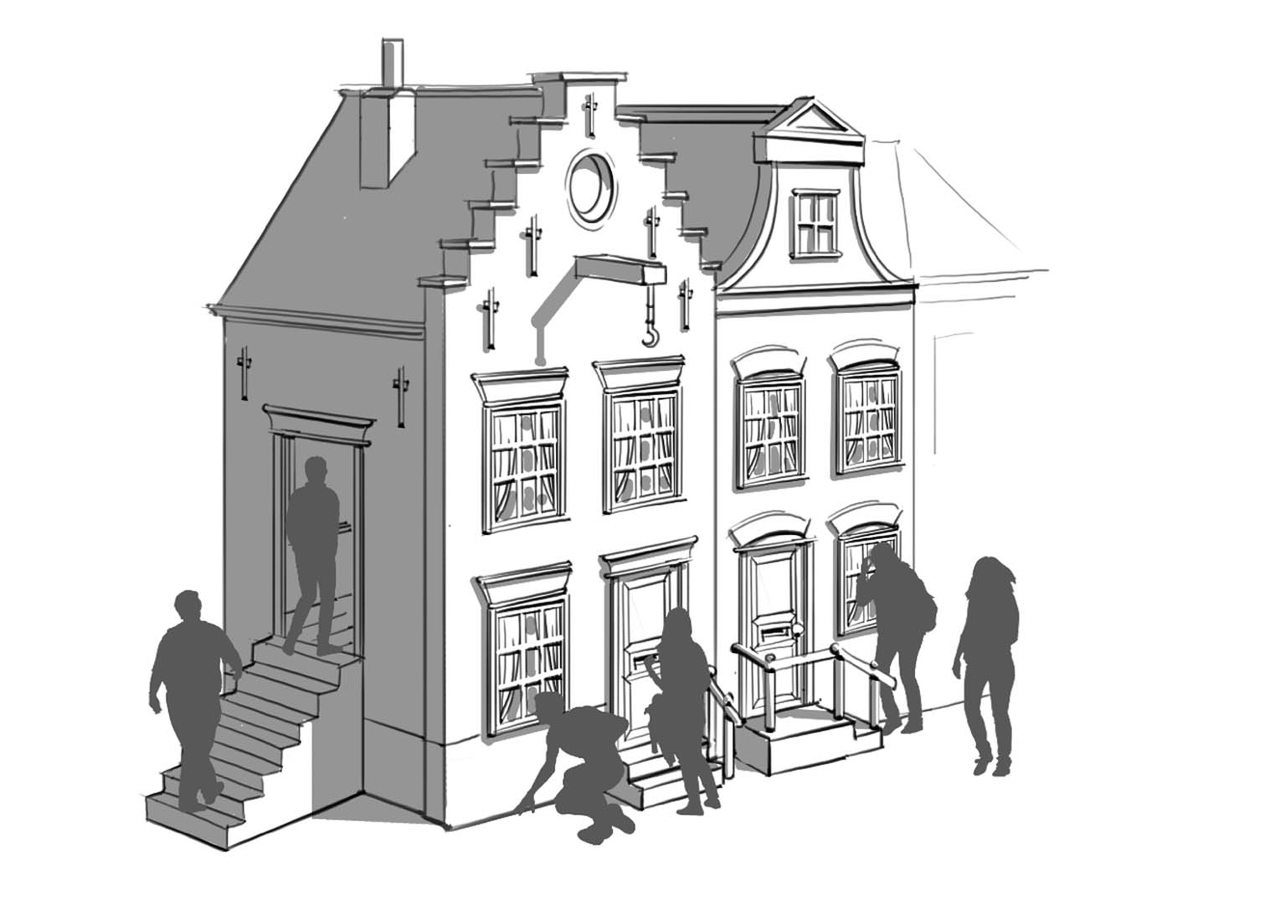 Houses in art impression of the storyline of THIS IS HOLLAND