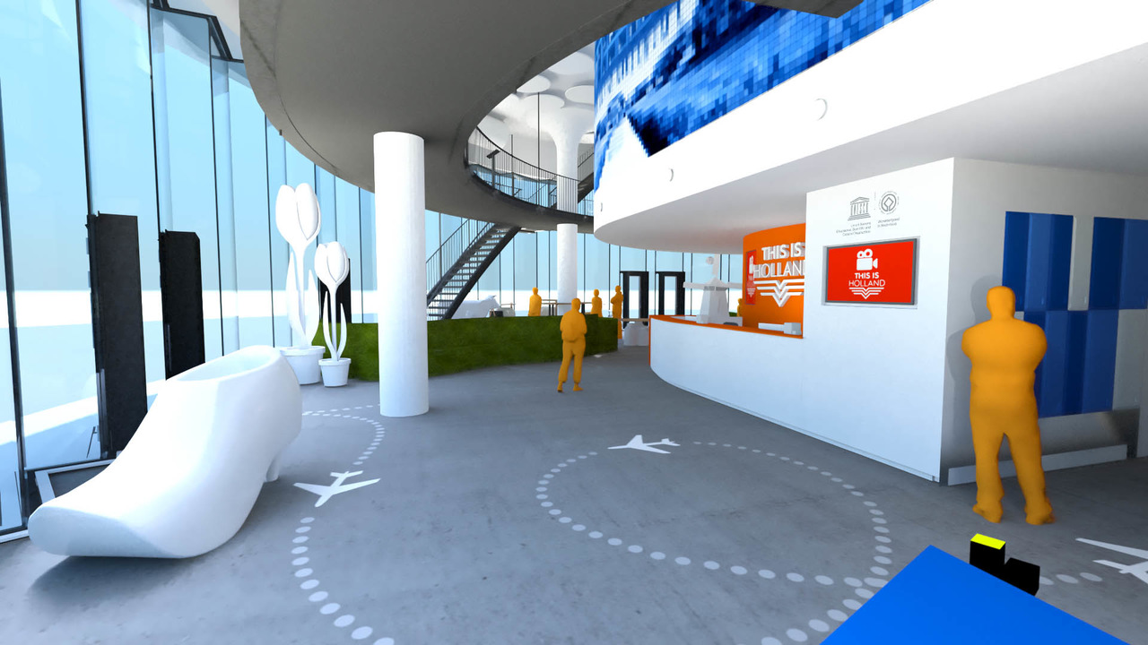 3D visualization of the entrance at THIS IS HOLLAND