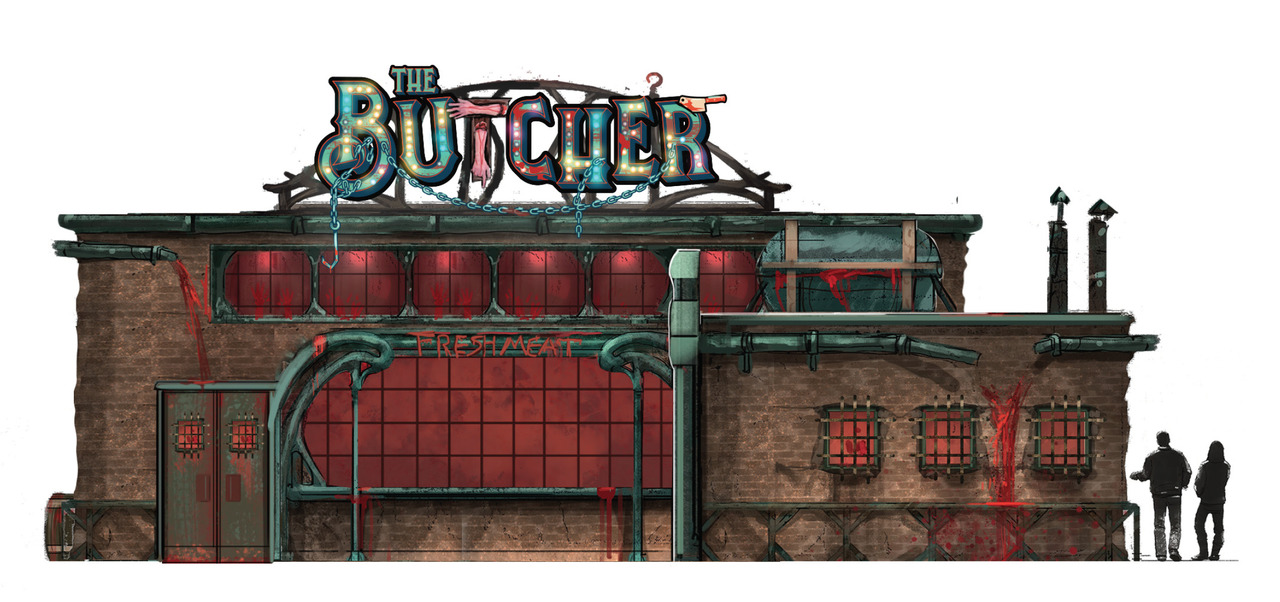 Design of the Butcher building at Insomniacs' Escape 2019