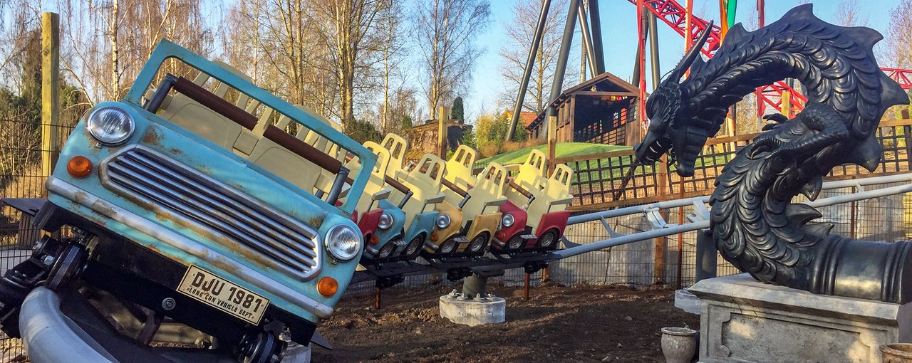 Photo of the Jungle Rally coaster at the Wild Asia Area at Djurs Sommerland