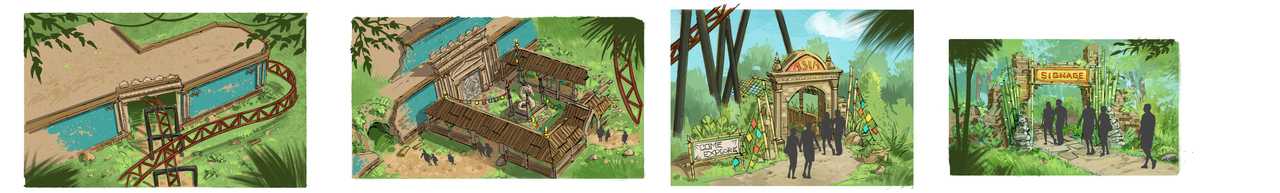 The artist impression of the Dragekongen coaster at the Wild Asia Area at Djurs Sommerland