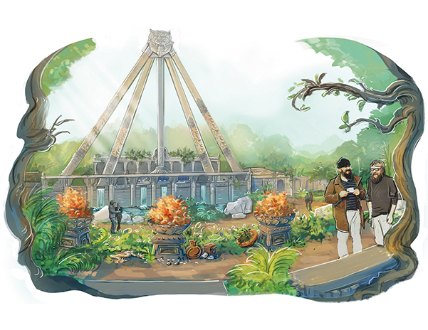 Artist impression of the Wild Asia Area at Djurs Sommerland