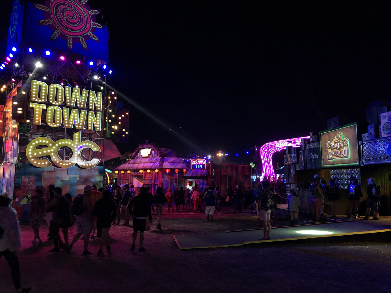 The entertainment area of EDC 2019