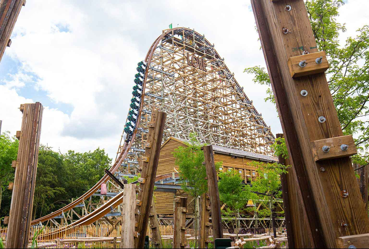 The Untamed coaster at Walibi Holland