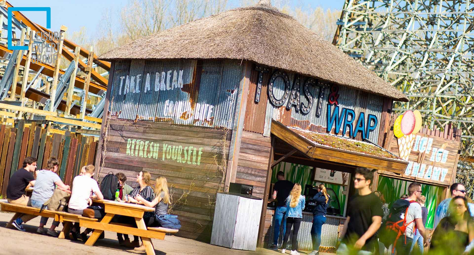 The tosti and wrap outlet at the Wilderness area in Walibi Holland