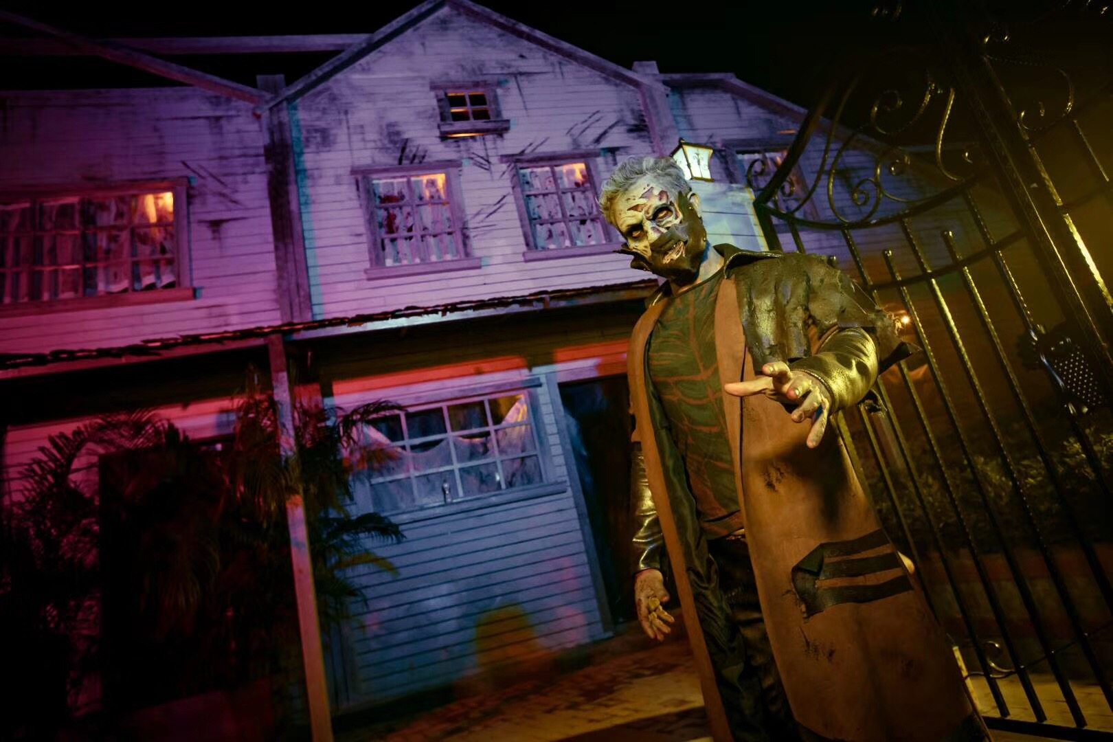 Outside at The Cursed House Haunted House in 2019