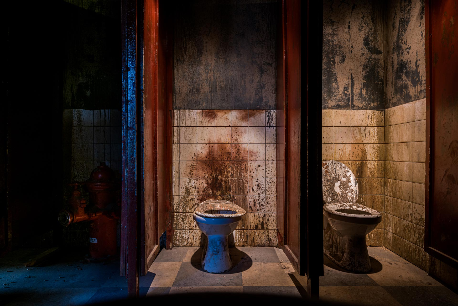 Toilets of the Pack Haunted House at Traumatica Europa-Park