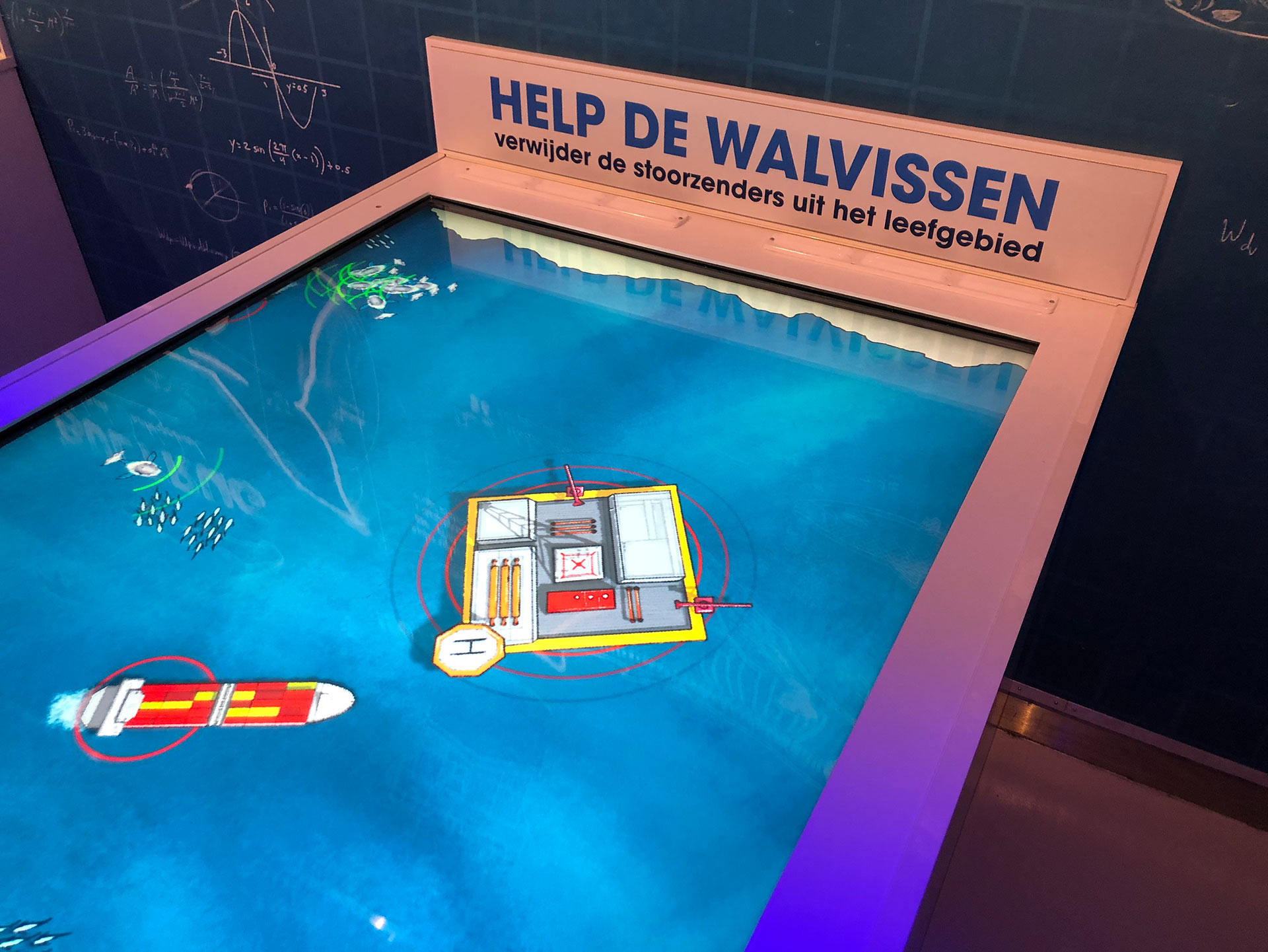 The interactive game at Wildlands Sonar Station as edutainment