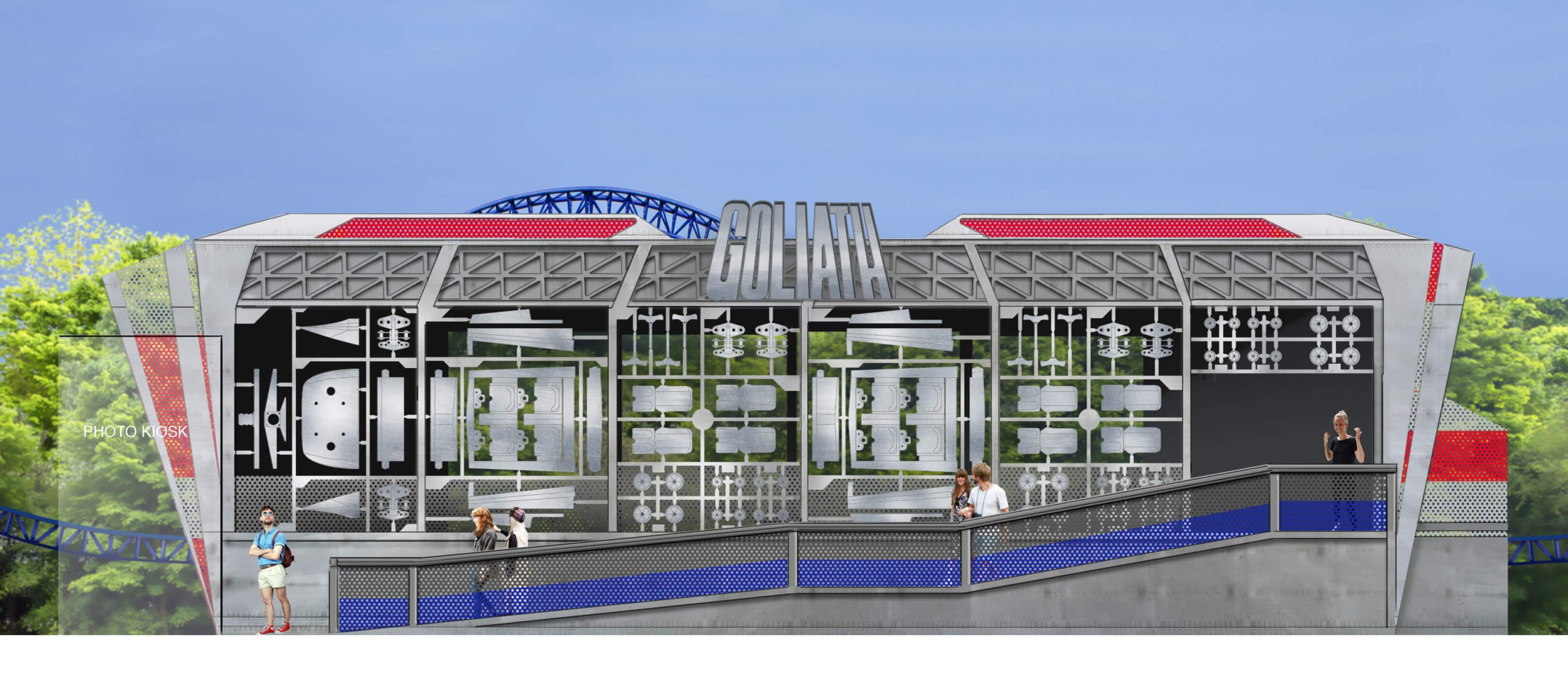 Design of Goliath station at Walibi Holland