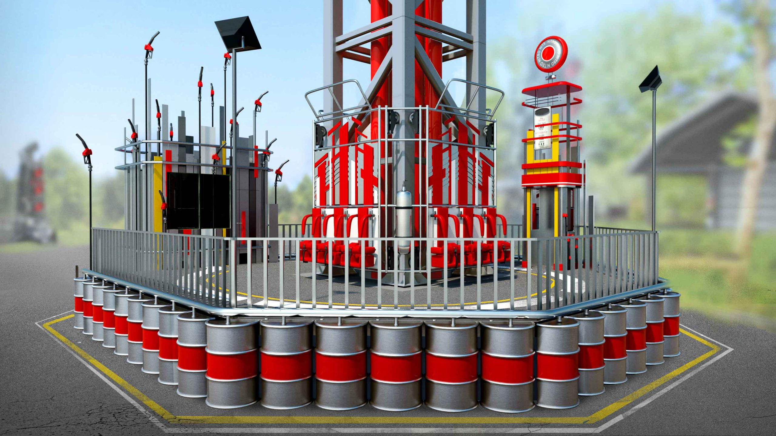 Design of Space Shot portal at Walibi Holland