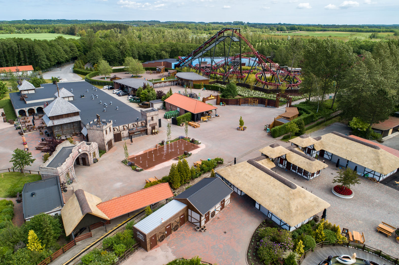 An overview of the signage at the Wild Asia Area at Djurs Sommerland
